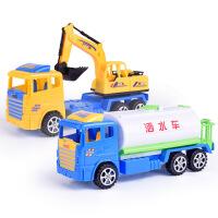 儿童玩具车 惯性工程车消防车模型玩具汽车套装 洒水车+工程车