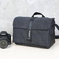 佳能相机包单反包可爱77d 80d 750d m6 m3尼康便携摄影包单肩休闲 黑色