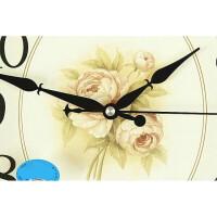 欧式古典挂钟时钟客厅墙上挂钟现代简约大石英钟艺术装饰静音挂钟 16英寸