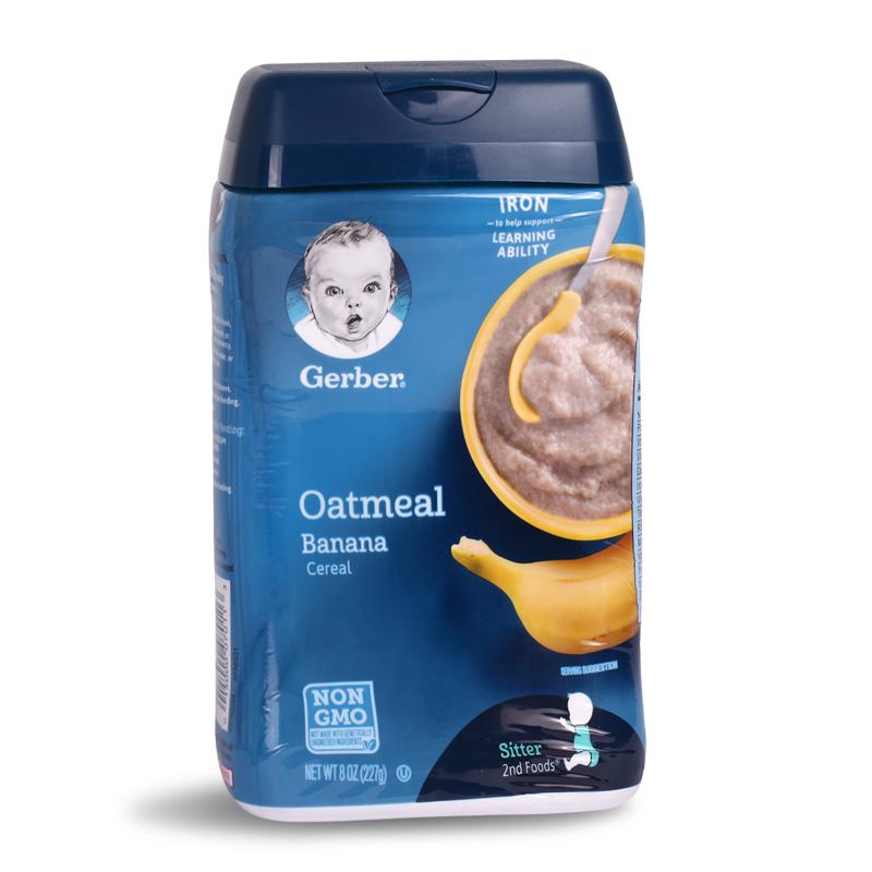 美国嘉宝米粉Gerber 二阶香蕉燕麦米粉米糊227g 宝宝婴儿辅食6月+