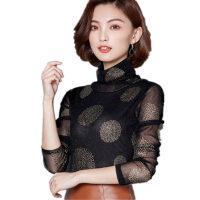 秋冬保暖内衣女外穿加厚加绒单件上衣紧身美体高领打底衫时尚小衫 黑色 薄款