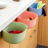 厨房收纳盒 厨房橱柜门挂式大号垃圾桶欧式时尚无盖塑料收纳盒杂物筒
