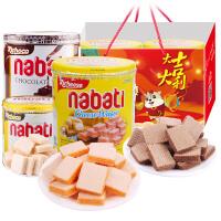 印尼进口丽芝士richeese纳宝帝奶酪威化350g*2罐装nabati芝士夹心饼干