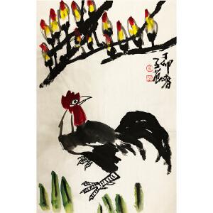 崔子范《一鸣惊人》著名画家