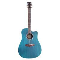 电箱单板吉他民谣面单吉它初学者入门学生新手蓝红黑原木色