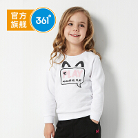 【开学季秒杀价:45】361度童装女童套头卫衣2019年秋季新品圆领衫T恤N61914301