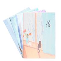 晨光B5时尚胶套本96页笔记本记事本作业本(清水喵)APY4FD35 封面颜色*
