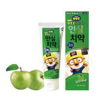 啵乐乐韩国进口儿童可吞咽牙膏苹果味两岁以上80g