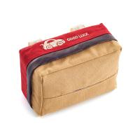 皮帆布拼接 车载遮阳板天窗纸巾盒挂式汽车用抽纸套创意车内用品 红色 帆布纸巾盒