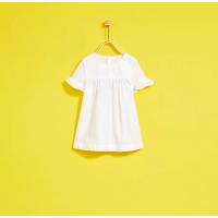 纯元 童装新款女童夏季白色公主裙子短袖连衣裙薄款纯棉开扣