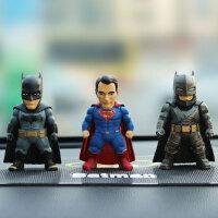 创意英雄超人蝙蝠侠汽车摆件重甲蝙蝠侠手办车载公仔车内饰品