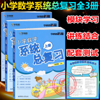 学而思秘籍小学数学系统总复习上下册+模拟卷 全3册