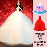 换装芭比娃娃套装大礼盒超大婚纱娃娃女孩公主玩具洋娃娃生日礼物 经典版(加2件大礼服) 八大 礼盒装 送3件小礼服
