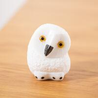 石隐日式猫头鹰小摆件家居石头饰品创意可爱客厅个性家装礼品饰品