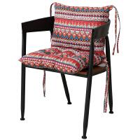 防滑加厚透气布艺椅垫靠垫一体办公室电脑椅腰靠学生连体家用坐垫