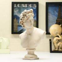 客厅欧式饰品摆件大卫石膏头像人物雕塑像艺术装饰品家居树脂教具