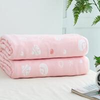 婴儿浴巾6层纯棉纱布洗澡新生儿毛巾被子宝宝盖毯抱被吸水儿童空调被