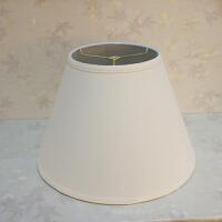 灯罩外壳配件布艺创意台灯落地灯圆形卧室客厅田园客厅白色欧美式