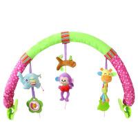 人气初生婴幼儿童推车挂床挂件手摇铃宝宝座椅吊挂玩具夹01岁 加长森林动物(小夹子) IC音乐