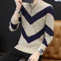 冬季韩版加厚圆领毛衣男个性毛衫潮男装打底套头针织衫外套yly