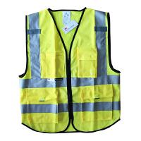 3M 反光背心 多口袋 反光衣 反光马甲 建筑施工高亮反光服 可印字logo 10907 L/XL