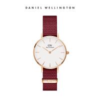 Danielwellington丹尼尔惠顿 新品DW手表女 红色织纹带女表 进口时尚手表 石英表