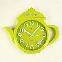 挂钟客厅现代创意儿童钟表卧室简约欧式圆形大号石英钟 16英寸