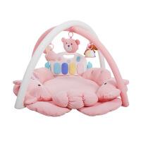 ?宝宝满月狗年礼物0-18个月音乐健身架玩具婴儿游戏毯 (钢琴版)