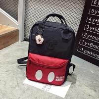 新款米奇卡通妈咪包韩版双肩包背包潮女旅行包中小学生书包