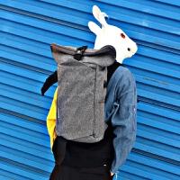 双肩包男帆布包休闲运动背包男时尚潮流韩版青年旅行包户外大容量SN6284