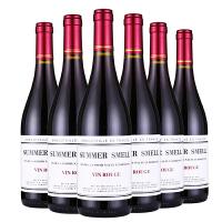 红酒整箱 原瓶进口法国勃艮第瓶型 半干红葡萄酒6支
