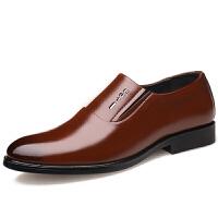 冬季2019新款男士日常休闲正装商务真皮皮鞋男保暖加绒婚鞋爸爸鞋