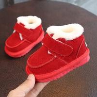 小儿童休闲雪地靴2018冬季新款男女宝宝婴儿保暖加厚棉靴