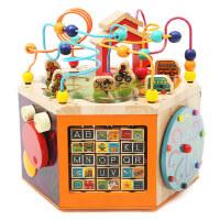 儿童玩具1-2-3周岁小孩益智力开发男女宝宝早教积木串绕珠百宝箱