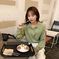 韩都衣舍2020春装新款韩版女装长袖两色简约衬衫女上衣PT9456禧