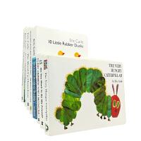 英文The Very Hungry Caterpillar 等8册艾瑞卡尔经典硬纸板作品
