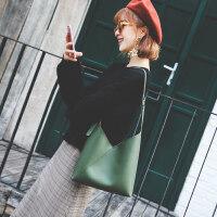 包包女2017新款韩版时尚单肩包女大包简约子母包潮购物袋包手提包