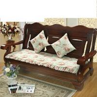 实木沙发垫三人连体木沙发坐垫带靠背垫子长沙发座垫椅垫拆洗SN3841 乳白色 全棉帆布-唯美