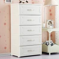 欧式抽屉式收纳柜塑料儿童储物柜宝宝衣柜整理柜五斗柜子