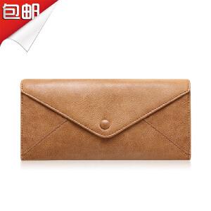 SOUF【支持礼品卡】男士钱包男长款 拉链大钞夹手拿包男牛皮 百搭真皮夹大容量潮
