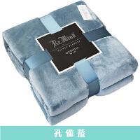 纯色礼品毛毯垫床加绒加厚冬季法兰绒珊瑚绒床单毯子午睡毯沙发毯