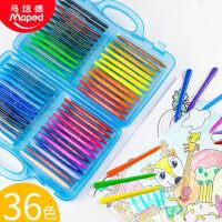 法国MAPED马培德儿童24色36色48色塑料蜡笔幼儿园画画彩色画笔小学生用宝宝安全美术绘画涂鸦彩笔套装