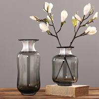北欧玻璃花瓶摆件 欧式干花插花瓶家居客厅餐厅装饰花器花瓶花艺软装饰品