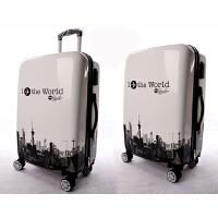 旅行箱登机箱行李箱女红色万向轮拉杆箱男20寸24寸出差大容量