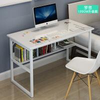 电脑桌办公收纳架多功能家用工作台简约单人创意经济型组装