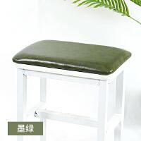 四季皮革软包硬坐垫定制穿鞋柜换鞋凳卡座椅子凳子皮垫子长方形