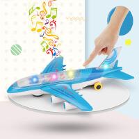 仿真万向滑行客机飞机模型玩具P代玩具惯性飞机音乐灯光男孩宝宝