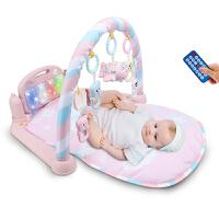 婴儿健身架器音乐脚踏钢琴新生儿宝宝玩具3-6-12个月0-1岁 抖音
