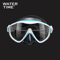 蛙咚潜水镜浮潜装备面罩呼吸管 单面镜潜水装备