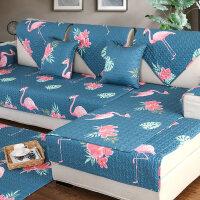 全棉沙发垫布艺春夏简约现代四季通用防滑坐垫沙发套巾罩全盖